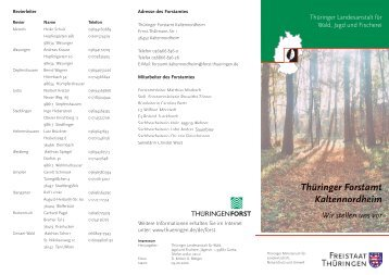 Thüringer Forstamt Kaltennordheim