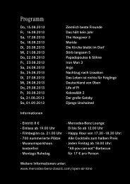 Programm - Mercedes-Benz Museum - Open Air Kino 2013 ...
