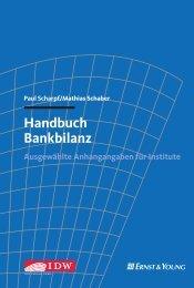 Handbuch Bankbilanz - Shop IDW-Verlag - IdW