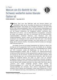 Warum ein EU-Beitritt für die Schweiz weiterhin ... - Liberales Institut