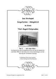 Das Kirchspiel Jurgaitschen - Kreisgemeinschaft Tilsit-Ragnit eV