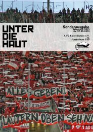 UNTER DIE HAUT - Frenetic Youth