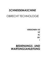 Bedienungsanleitung - IK-VEK_d - OBRECHT Technologie AG