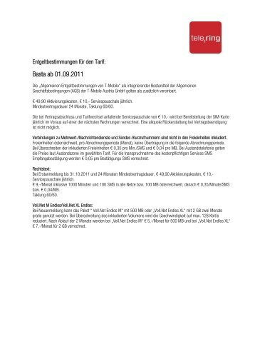 Basta ab 01.09.2011