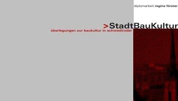 StadtBauKultur - regina-foerster.de