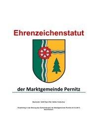 Ehrenzeichenstatut der Marktgemeinde Pernitz