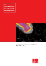 Kellerschutz Broschüre - ACO Kellerschutz. Das System