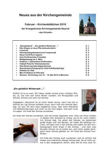 Kirchenblättchen Februar 2010 - Evangelische Kirchengemeinde ...