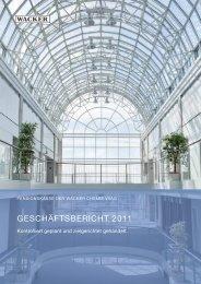 Geschäftsbericht 2011 - Pensionskasse der Wacker Chemie VVaG