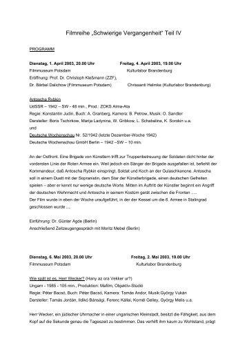 Programm - Zentrum für Zeithistorische Forschung Potsdam