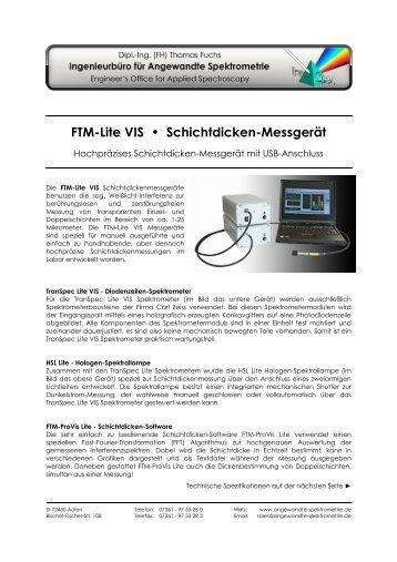 FTM-Lite VIS Schichtdicken-Messgeraet
