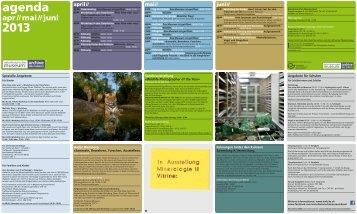agenda April bis Juni 2013 - Naturhistorisches Museum
