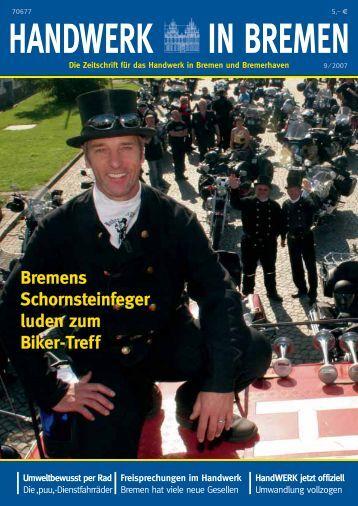 Bremens Schornsteinfeger luden zum Biker-Treff
