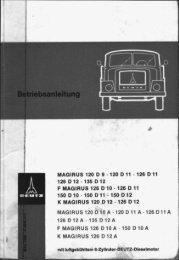 MAGIRUS 120 D 9 - 120 D 'I1 - 126 D 1'