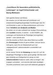 an Ingolf Gritschneder und Georg Wellmann