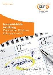 Innerbetriebliche Forbildung Katholisches Klinikum ... - KKRN