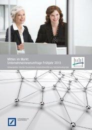 Mitten im Markt. Unternehmerinnenumfrage Frühjahr 2013 - VdU