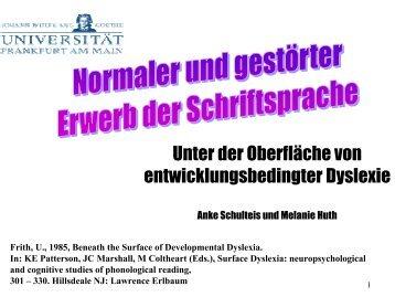 entwicklungsbedingte Dyslexie - words and pictures webdesign