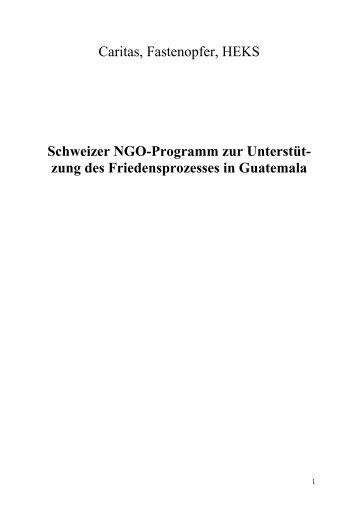 Caritas, Fastenopfer, HEKS Schweizer NGO-Programm zur ...