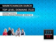 MARKTCHANCEN DURCH TOP LEVEL DOMAINS (TLD) - NetCologne