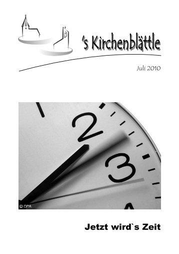 Kirchenblättle Juli 2010 - Evang. Kirchenbezirk Bad Urach