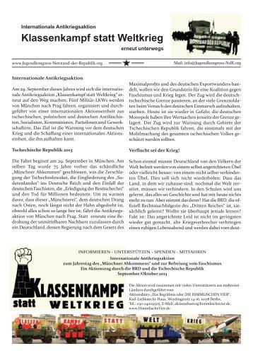 Klassenkampf statt Weltkrieg - Notstand der Republik