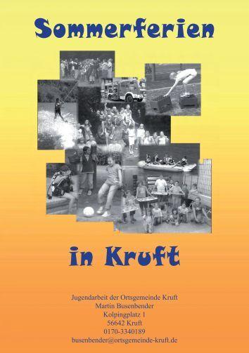 Sommerferienprogramm 2013 - Ortsgemeinde Kruft