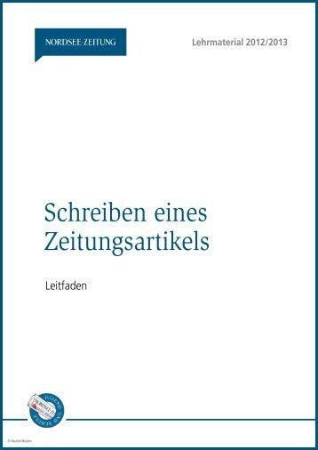 Leitfaden - Nordsee-Zeitung