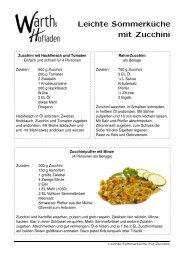 Leichte Sommerküche mit Zucchini - Warths Hofladen