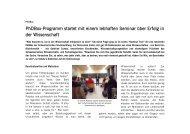 PhDBox-Programm startet mit einem lebhaften ... - Studienstiftung
