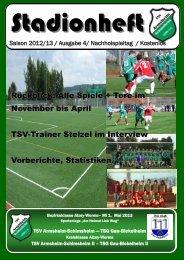 Rückblick: Alle Spiele + Tore im November bis April TSV-Trainer ...