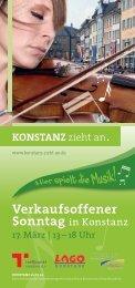 Programm-Flyer zum Verkaufsoffenen Sonntag am ... - Stadt Konstanz