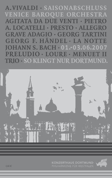 A. ViVAldi · SAiSonAbSchluSS Venice bAroque orcheStrA AgitAtA ...