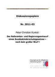 Diskussionspapiere Nr. 2011-03 Peter-Christian ... - Hochschule Kehl