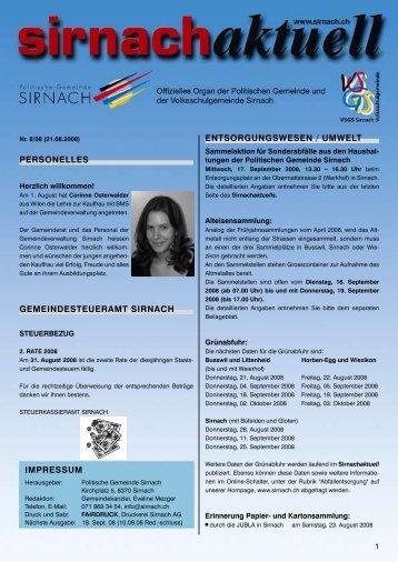 entsorgungswesen / umwelt - Gemeinde Sirnach
