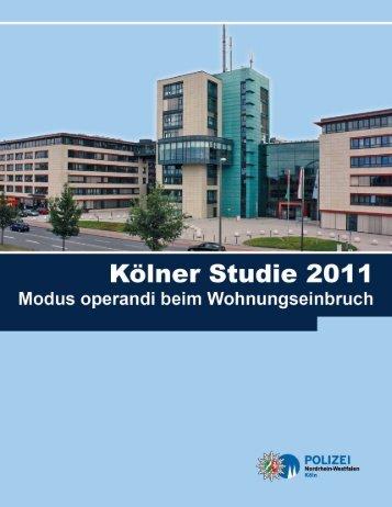 Kölner Studie 2011 - Wohnen Sie sicher