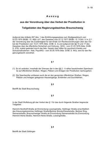 A u s z u g aus der Verordnung über das Verbot der ... - Wolfsburg