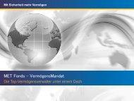 MET Fonds VermögensMandat und Fondsperlen - Investment & more