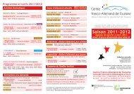 Saison 2011-2012 - Centre Franco-Allemand de Touraine