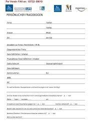 persönlicher fragebogen - Fonds Finanz Maklerservice GmbH