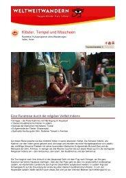 Klöster, Tempel und Moscheen - Weltweitwandern