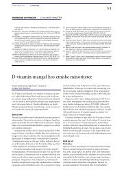 D-vitamin-mangel hos etniske minoriteter - Ugeskrift for Læger