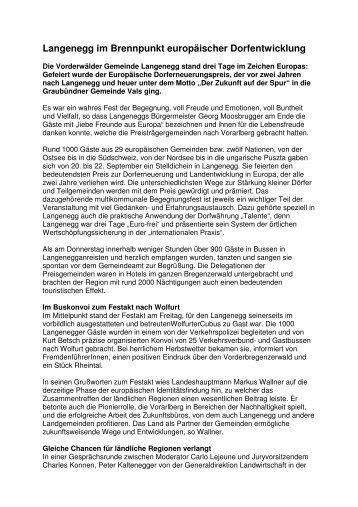 Pressebericht - Langenegg