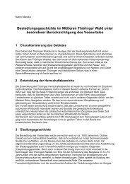 Besiedlungsgeschichte im Mittleren Thüringer Wald unter ...