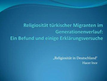 Religiosität türkischer Migranten im Generationenverlauf: Ein ...