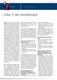 silber in der wundtherapie