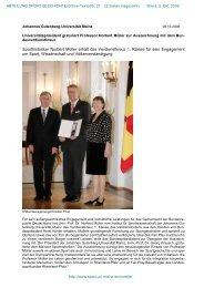 Prof. N. MÜLLER zum Bundesverdienstkreuz - Fachbereich Sport ...