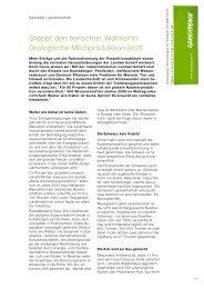 Das Wichtigste in Kürze (Greenpeace-Factsheet)