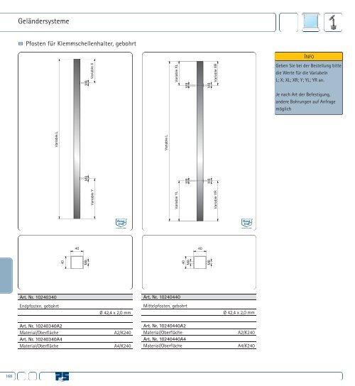 Geländersysteme für Vierkantrohr – Auszug aus den ... - Pauli