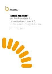Referenzbericht zum Qualitätsbericht 2010